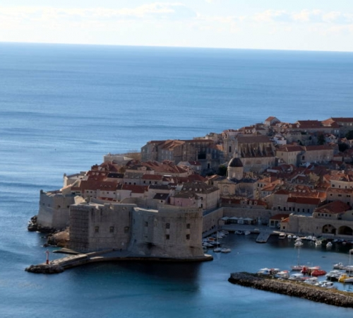 World famous image of Dubrovnik